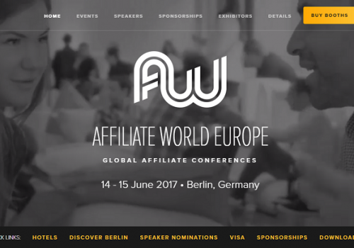 AWE Berlin 2017 is around the corner! Does it make sense to attend affiliate conferences?